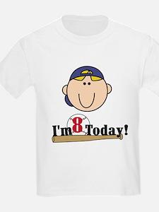 Baseball 8th Birthday(blond) T-Shirt