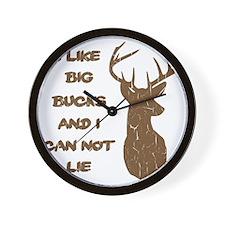 Vintage I Like Big Bucks Wall Clock
