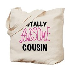 Pink Awesome Cousin Tote Bag