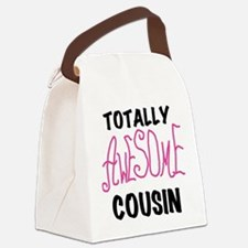 Pink Awesome Cousin Canvas Lunch Bag