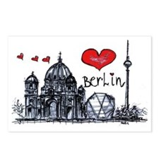 I love Berlin Postcards (Package of 8)
