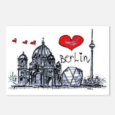 I love Berlin Postcards (Package of 8)