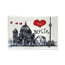 I love Berlin Rectangle Magnet