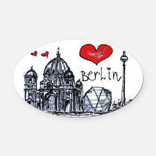 I love Berlin Oval Car Magnet