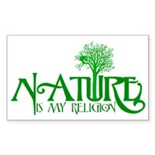Nature Is My Religion Rectangle Stickers