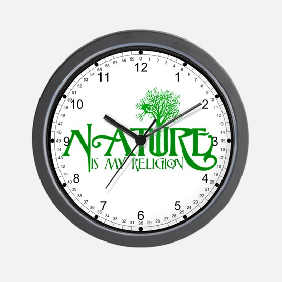 Nature Is My Religion Wall Clock