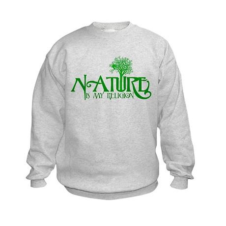 Nature Is My Religion Kids Sweatshirt