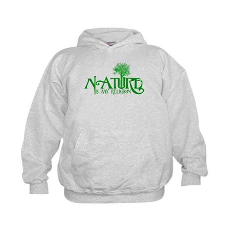 Nature Is My Religion Kids Hoodie