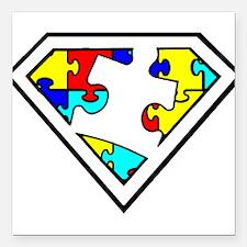 "Unique Autism Square Car Magnet 3"" x 3"""