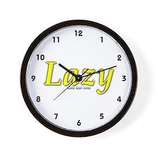Lazy Logo Wall Clock