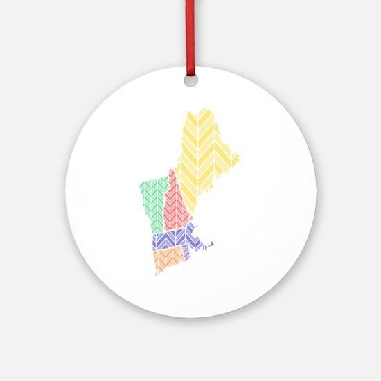 New England Ornament (Round)