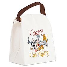 Crazy Cat Lady Canvas Lunch Bag