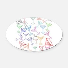 Happy Hour! Oval Car Magnet