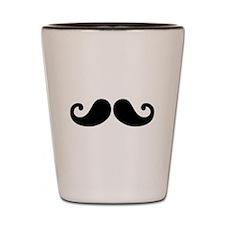 Black Mustache Shot Glass