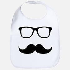 Mustache Glasses Bib