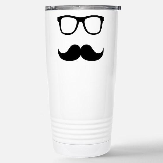 Mustache Glasses Stainless Steel Travel Mug