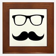Mustache Glasses Framed Tile