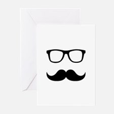 Mustache Glasses Greeting Cards (Pk of 20)