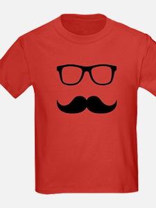 Mustache Glasses T