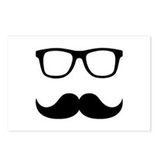 Mustache Glasses Postcards (Package of 8)