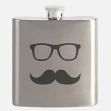 Mustache Glasses Flask
