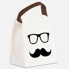 Mustache Glasses Canvas Lunch Bag