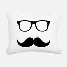 Mustache Glasses Rectangular Canvas Pillow