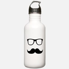 Mustache Glasses Water Bottle