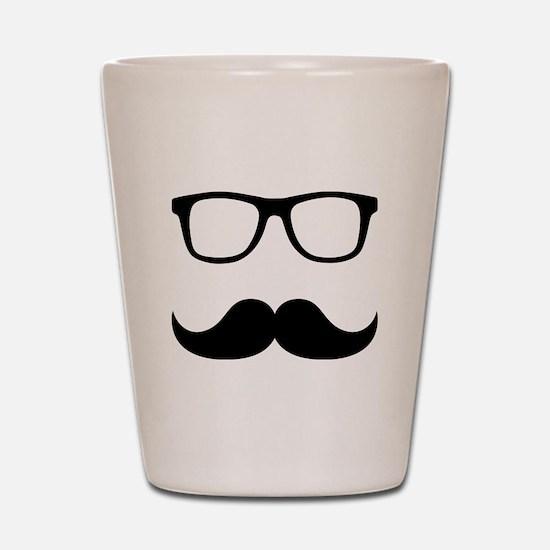 Mustache Glasses Shot Glass