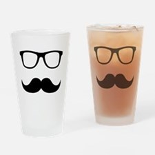 Mustache Glasses Drinking Glass