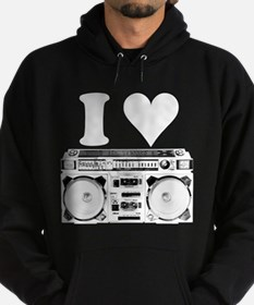 I Love Boomboxes Hoodie