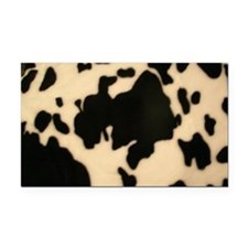 Dairy Cow Print Rectangle Car Magnet