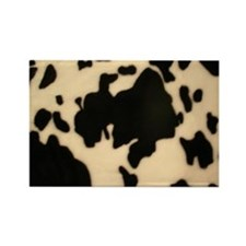 Dairy Cow Print Rectangle Magnet