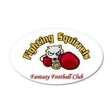 Fighting Squirrels Fantasy Football Champions Wall