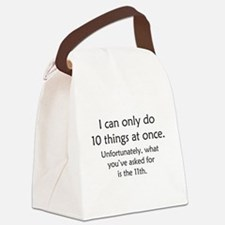 Ten Things At Once Canvas Lunch Bag