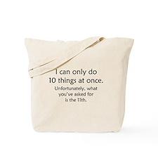Ten Things At Once Tote Bag