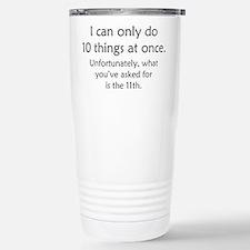 Ten Things At Once Travel Mug