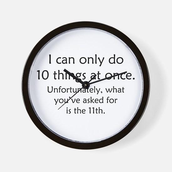 Ten Things At Once Wall Clock
