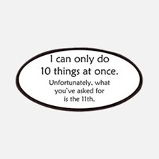 Ten Things At Once Patches