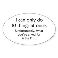Ten Things At Once Decal