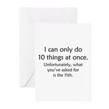 Ten Things At Once Greeting Cards (Pk of 10)