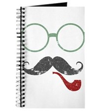 Mustache Face w/ Pipe Journal
