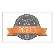 Certified Addict: 90210 Rectangle Sticker (10 pack
