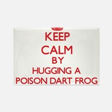 Keep calm by hugging a Poison Dart Frog Magnets