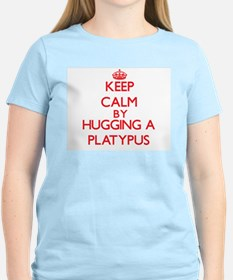 Keep calm by hugging a Platypus T-Shirt