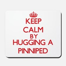 Keep calm by hugging a Pinniped Mousepad