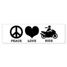 Peaceloveridefemale Bumper Bumper Sticker