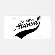NWSA Alumni Swoosh No Pigeon Aluminum License Plat