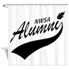 NWSA Alumni Swoosh No Pigeon Shower Curtain