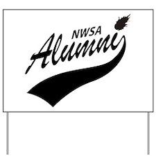 NWSA Alumni Swoosh No Pigeon Yard Sign